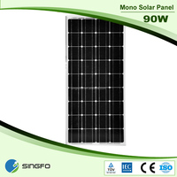 factory price 80w 18v mono solar panel for home and industrial use