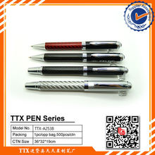 Writing durable click style metal pen,metal roller pen