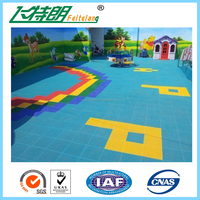 PP Outdoor Interlocking Sports Plastic Flooring