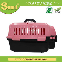 Luxury pet transport box plastic outdoor dog kennel designs