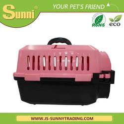 Luxury pet transport box plastic outdoor dog kennel designs