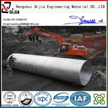 bridge building material, semicircular corrugated steel culvert pipe