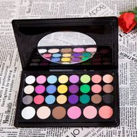 Free Shipping Professional Brand Makeup 30 Color Eye Shadow Palette Eyeshadow Blusher Powder Cosmetics Kit P30 V1033A