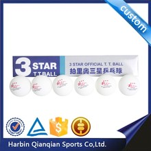 3 star new material durablity nonflammable Palio table tennis ball