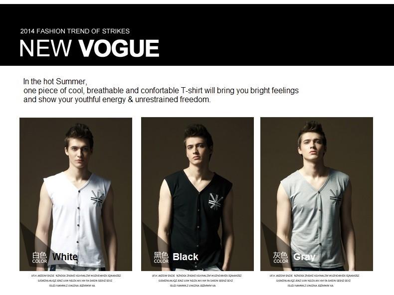 men vest color show