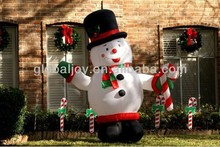 Christmas inflatable snowman decoration/outdoor inflatable snowman