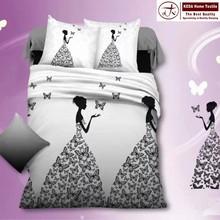 Wholesale brand new home decorative 3d printing stripe cotton bedsheet designs