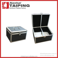 Black CD Aluminum Mess-free Holder Box Carry Case with Sleeves