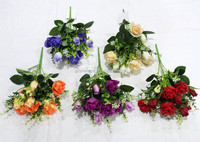 SJF72 Hot selling flowers , artificial roses for home , garden , wedding decoration