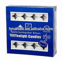 unscented colored tea light candles / wholesale candle China