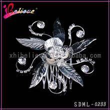 2015 Latest design metal silver wedding hair jewelry hair fork comb (SDML-0233)