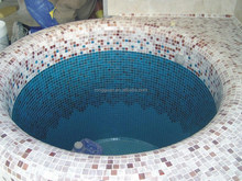 Glass mosaico design for swimming pool decorative mozaik tile