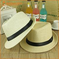 Wholesale Fashion Straw Unisex Cheap Fedora Hat