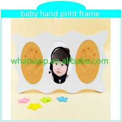 2015 hot baby hand print frame batik handprinted