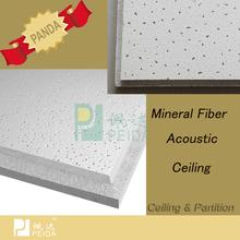 Interior decoration Mineral insonorizadas azulejo del techo de fibra