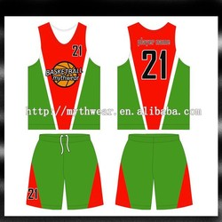 Professional sublimated basketball uniform design