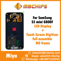 Touch Screen Digitizer LCD Display without frame For Samsung Mobile For Galaxy S5 Mini SM-G800F Black White SG-003