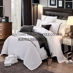 luxury ribbon embroidery bed sheet set wholesale