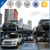 China PJS Car Stacker Parking Garage Equipment/Two Post Simple Parking Lift/ 2 Post Easy Parking Lifts