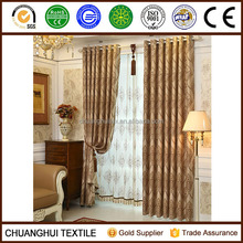 high quality European style jacquard Grommet hotel curtains