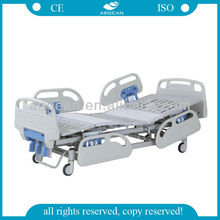 CE certificated AG-BYS001 three cranks ABS side rails Manual hospital bed