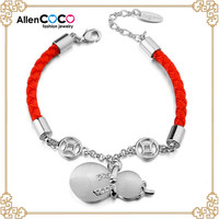Fast selling magnetic bracelet of Red Rope with calabash shape opal bracelet alibaba express in spanish