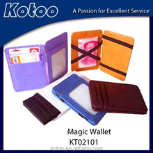 genuine leather goods leather coin wallet magic wallet