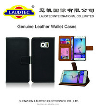 High quality Genuine Second layer Wallet Leather Case for Samsung S6