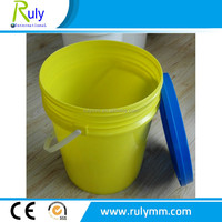 HDPE 5gallon/18L Customed printed plastic bucket used for food/chemical products packaging