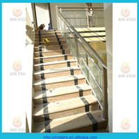 interior stair handrail/aluminum frame glass staircase rail