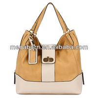 China Wholesale Contrast Color Hobo Lady Designer Handbag