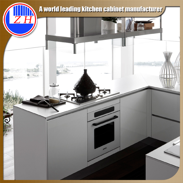 Zhihua wholesale small kitchen cabinet design with 2 pac for 2 pac kitchen cabinets