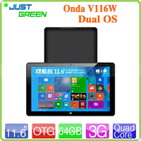 2015 Hot Sale V116W 64GB Onda 11.6 inch Tablet PC Support WIFI 3G Blutooth GPS made in China