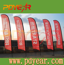 Advertising polyester beach flag with pole base