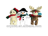 christmas snow toys for kids/plush santa claus stuffed christmas decoration toy