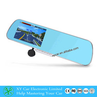 smart touch navigation&GPS,12V 5 inch dual camera car dvr XY-X5