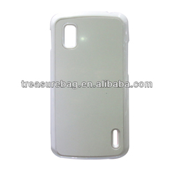 Blank sublimation hard PC phone case for LG nexus4 with aluminum insert