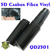 High quality bubble free high glossy 5D carbon fiber for lamp for car use