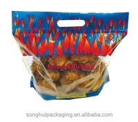 fried chicken plastic bag, plastic bag packaging, laminated plastic bag with zip lock