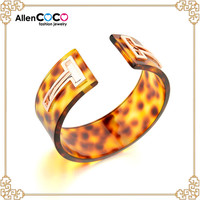 New fashion african jewelry sets 18k gold plated costume T shape bangles of Platic