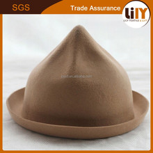 Manufacturers selling lady felt trilby Ms pointed wholesale fashion felt hat