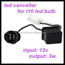 t10 led bulb load resistor/ w5w led warning canceller error free t10 led decoder