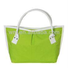 Nice nylon green women cutom tote bag,nylon handbag for lady