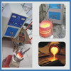 Small volume portable steel induction melting furnace