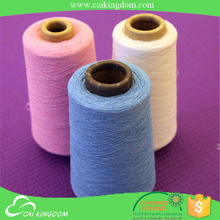 Oeko-tex standard 100 80% cotton 20% polyester colorful recycled cotton sock yarn in cangnan