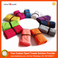 Wholesale Cheap Outdoor Camping Custom Microfiber Sports Towel With Black Mesh Bag