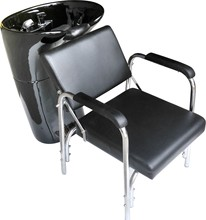 professional salon beauty fiber glass black shampoo basin chair