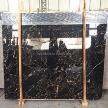 Black and gold marble block
