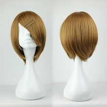 Fashion peluca Short Straight Kuroko no Basuke Coach Brown Wig Man Wig Cosplay Party Wigs