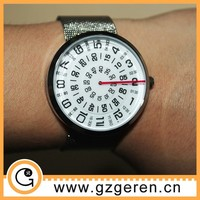 Alibaba express hot selling unique rotary dial vogue watch